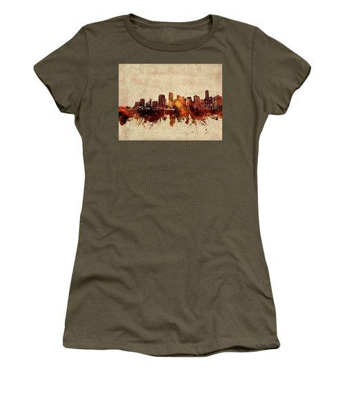 Vancouver Skyline Sepia Women's T-Shirt