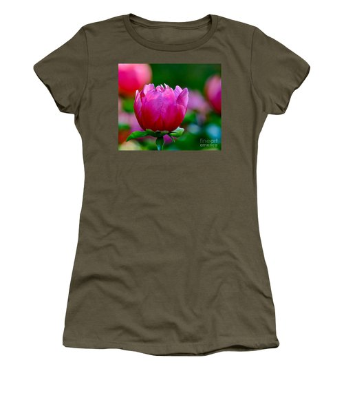 Vibrant Pink Peony Women's T-Shirt