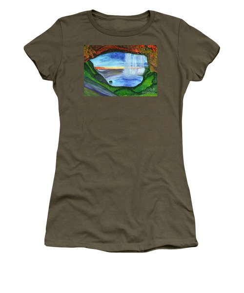 View From The Cave To The Waterfall Women's T-Shirt