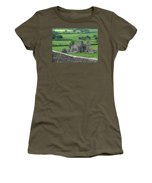 Women's T-Shirt featuring the photograph View From The Rock by PJ Boylan