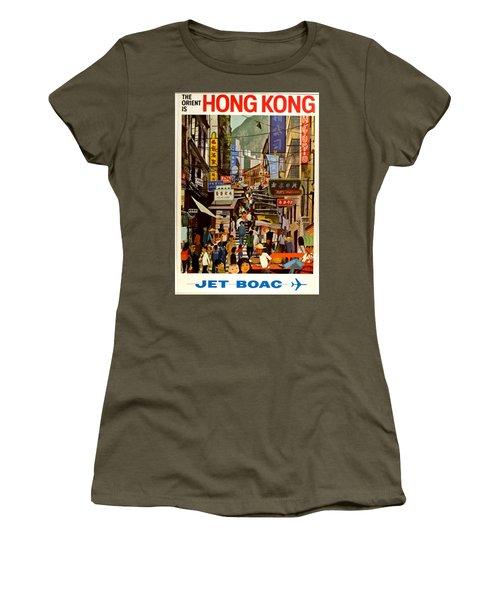 Vintage Travel Poster - Hong Kong Women's T-Shirt