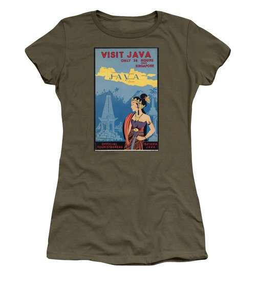 Vintage Travel Poster - Java Women's T-Shirt