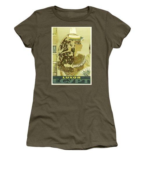 Vintage Travel Poster - Luxor, Egypt Women's T-Shirt