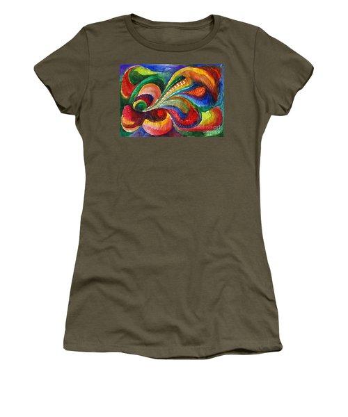 Vivid Abstract Watercolor Women's T-Shirt