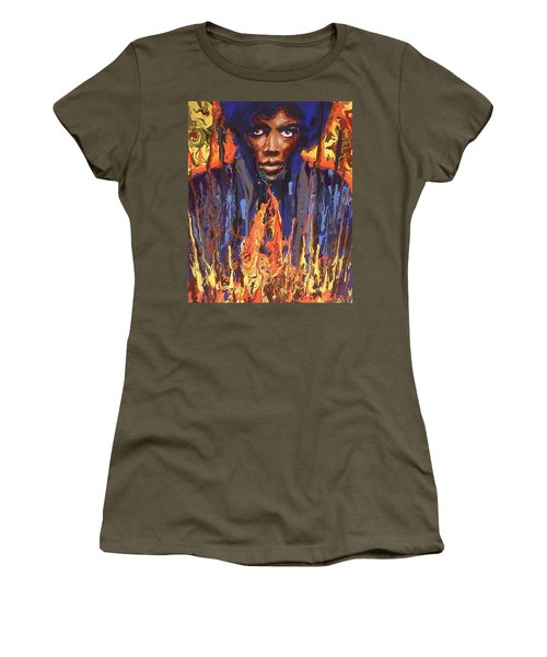Women's T-Shirt featuring the painting Voodoo by Blake Emory