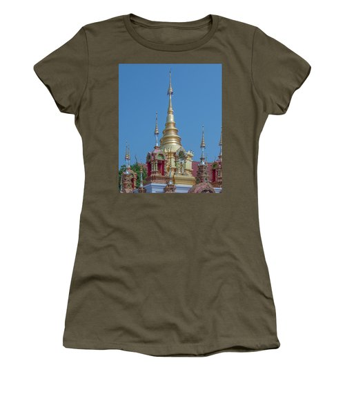 Women's T-Shirt featuring the photograph Wat Ban Kong Phra That Chedi Pinnacle Dthlu0499 by Gerry Gantt