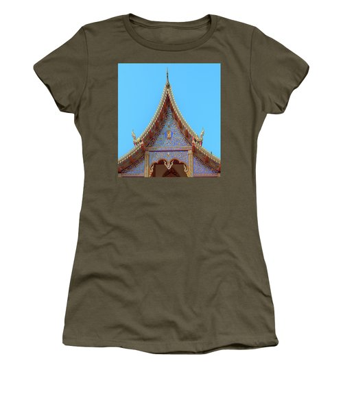 Women's T-Shirt featuring the photograph Wat Kulek Phra Wihan Gable Dthlu0444 by Gerry Gantt