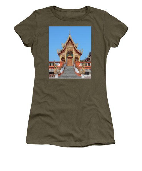 Women's T-Shirt featuring the photograph Wat Nong Tong Phra Wihan Dthcm2639 by Gerry Gantt