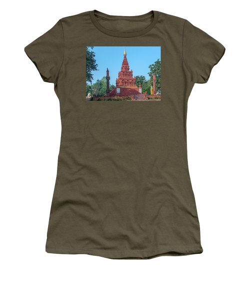 Women's T-Shirt featuring the photograph Wat Pa Chedi Liam Phra Chedi Liam Dthcm2670 by Gerry Gantt
