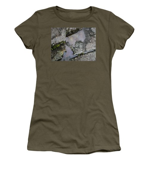Women's T-Shirt featuring the photograph Water On The Rocks 3 by Juan Contreras