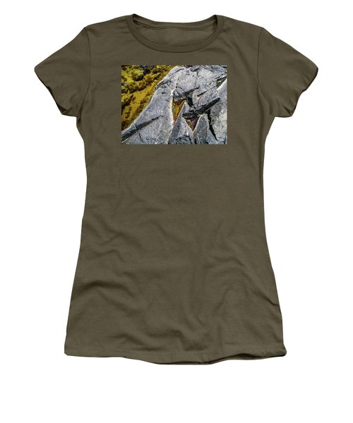 Women's T-Shirt featuring the photograph Water On The Rocks 8 by Juan Contreras