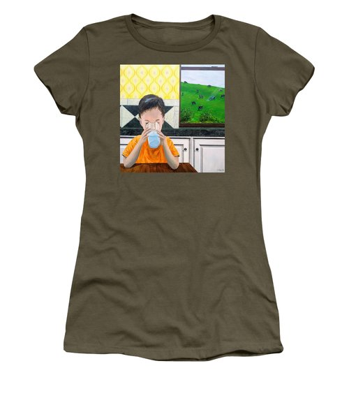 Women's T-Shirt featuring the painting We Are Starstuff by Kevin Daly