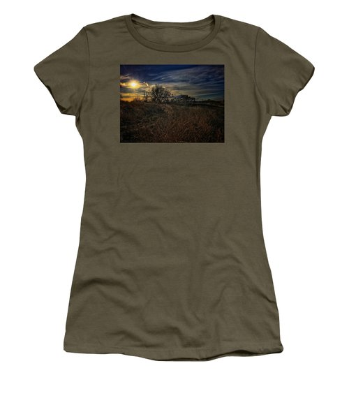 Women's T-Shirt featuring the photograph Western Nebraska Winter by Dan Miller