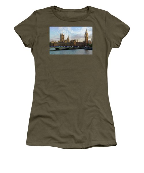 Women's T-Shirt (Athletic Fit) featuring the photograph Westminster Palace by Anthony Dezenzio