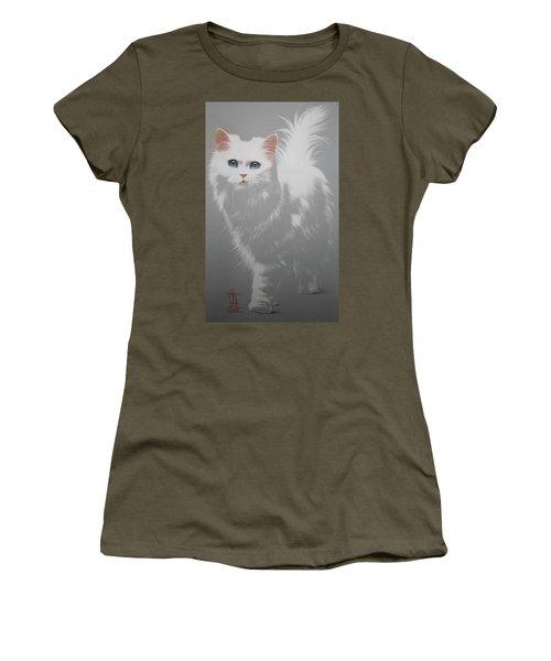 White Angora Cat Women's T-Shirt
