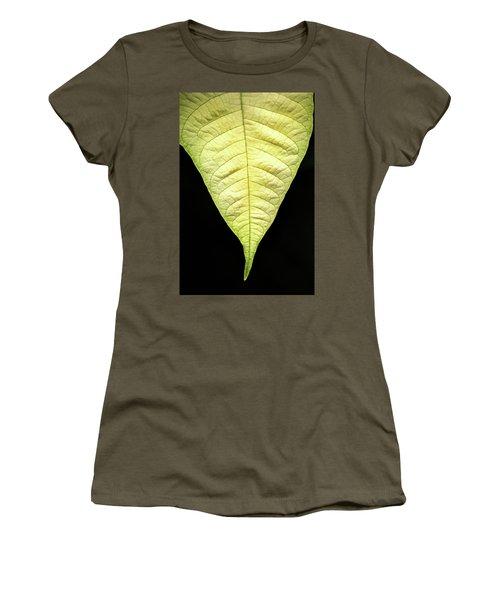 White Poinsettia Leaf Women's T-Shirt