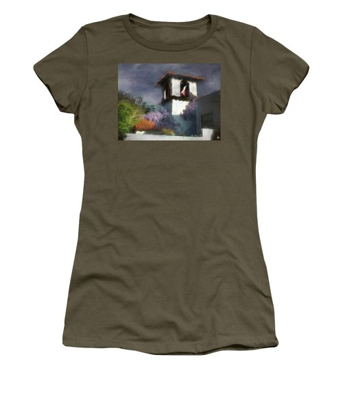 Women's T-Shirt featuring the photograph Wind In The Tower Washline by Wayne King