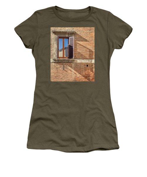 Window Shutter Shadow Of Tuscany Women's T-Shirt