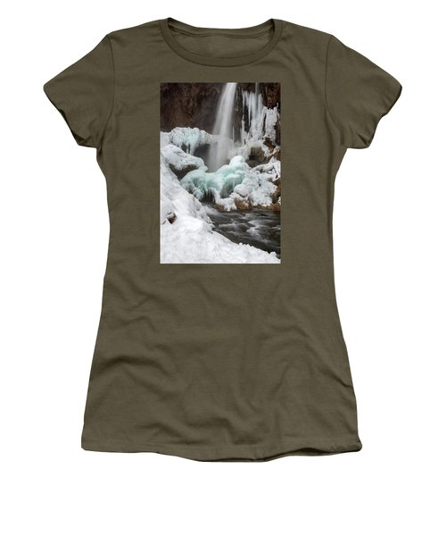 Winter At Rifle Falls Colorado Women's T-Shirt