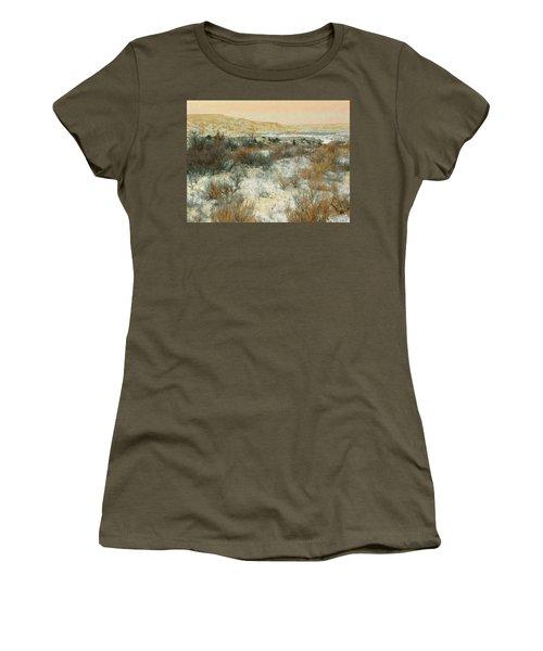 Women's T-Shirt featuring the photograph Winter Near The Little Missouri by Cris Fulton