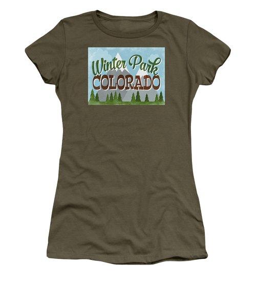 Winter Park Colorado Retro Mountains Women's T-Shirt