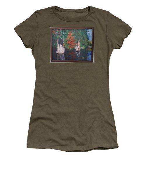 Wolf Lake On Vancouver Island  Women's T-Shirt