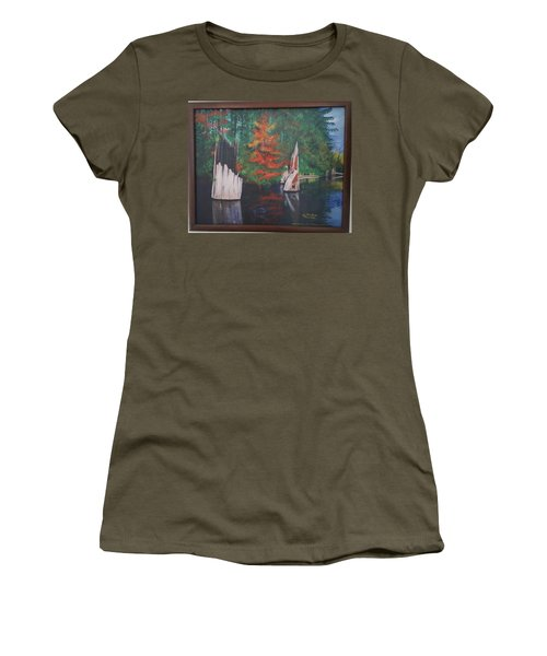 Wolf Lake On Vancouver Island  Women's T-Shirt
