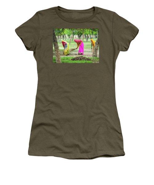 Woman In The Garden Women's T-Shirt