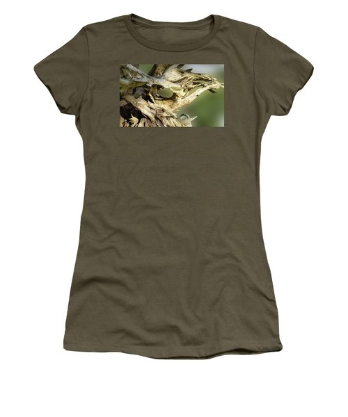 Women's T-Shirt featuring the photograph Wood Log In Nature No.14 by Juan Contreras