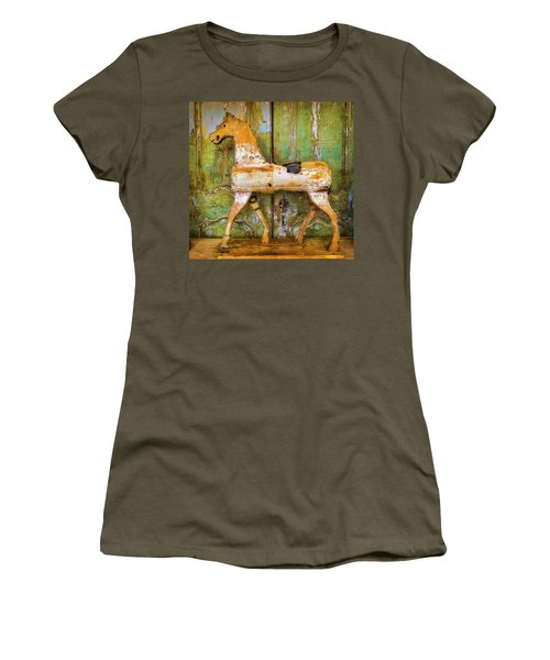 Wooden Antique French Horse Women's T-Shirt