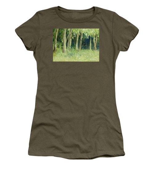 Woodland Tree Line Women's T-Shirt