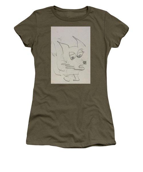 Worried Fox Sketch Women's T-Shirt
