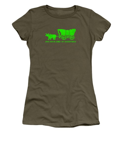 You Have Died Of Dysentery Oregon Trail Video Game Parody Women's T-Shirt