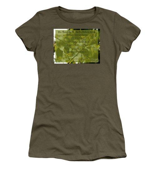 You Shone Like The Sun On Autumn Leaves Poem Women's T-Shirt