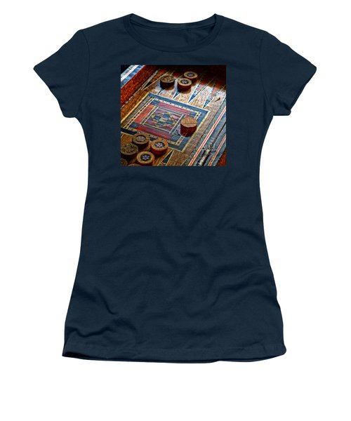 Backgammon Women's T-Shirt (Junior Cut) by Beverly Cash