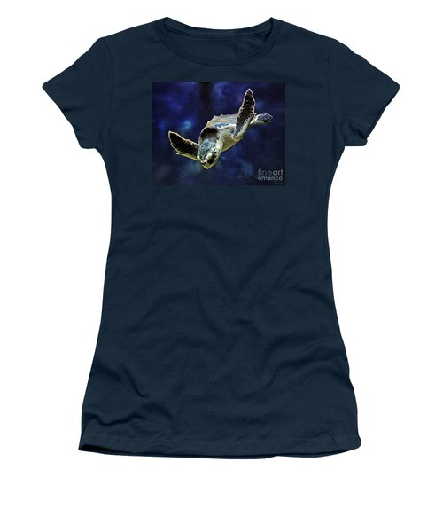 Women's T-Shirt (Junior Cut) featuring the photograph  Sea Turtle by Savannah Gibbs