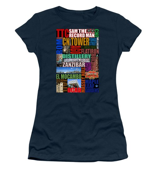 Toronto Typography Women's T-Shirt (Junior Cut) by Andrew Fare