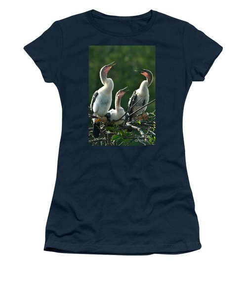 Anhinga Chicks Women's T-Shirt (Athletic Fit)