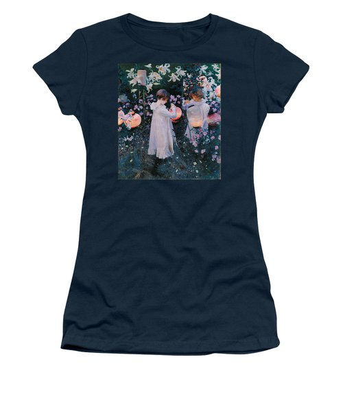Carnation Lily Lily Rose Women's T-Shirt (Junior Cut) by John Singer Sargent