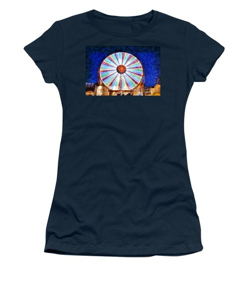 Christmas Ferris Wheel Women's T-Shirt (Athletic Fit)