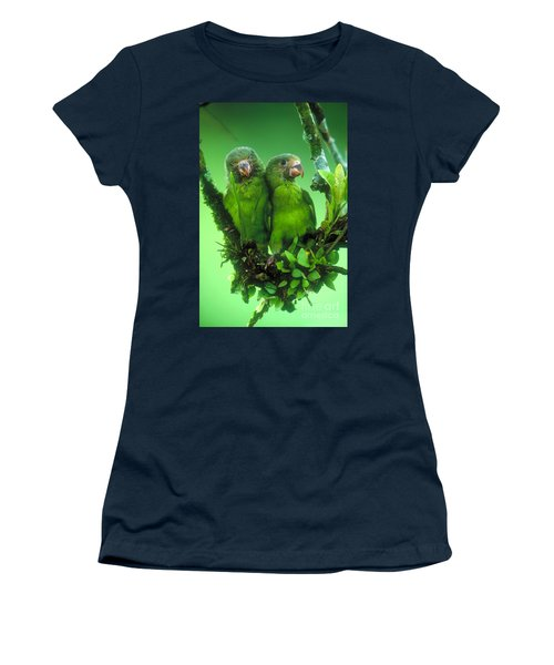 Cobalt-winged Parakeets Women's T-Shirt (Athletic Fit)