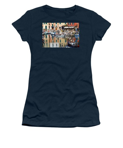 fishing boats in Camogli  Women's T-Shirt (Athletic Fit)