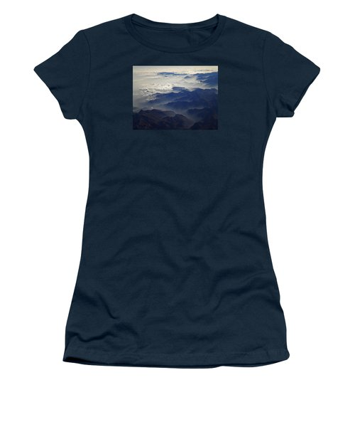 Flying Over The Alps In Europe Women's T-Shirt (Junior Cut) by Colette V Hera  Guggenheim