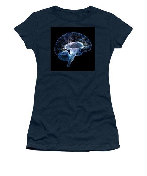 Human Brain Complexity Women's T-Shirt (Junior Cut) by Johan Swanepoel
