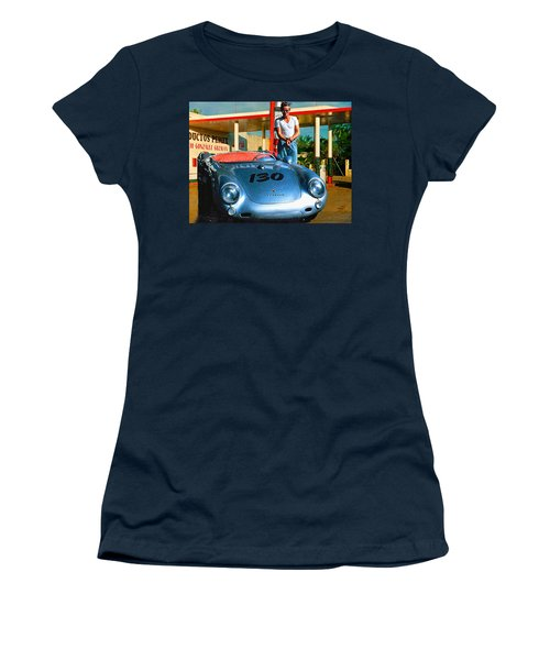 James Dean Filling His Spyder With Gas Women's T-Shirt