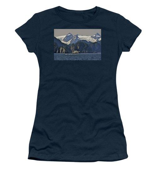 Kenai Fjords Tour Boat In Resurrection Women's T-Shirt