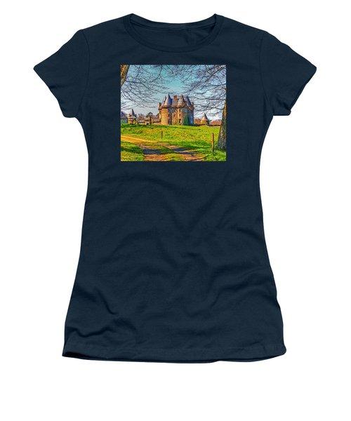 Women's T-Shirt (Junior Cut) featuring the photograph Chateau De Landale by Elf Evans