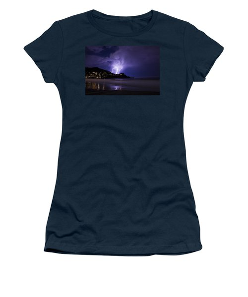 Lightning Over The Ocean Women's T-Shirt