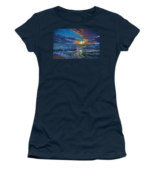 Never Ending Sea Women's T-Shirt (Athletic Fit)