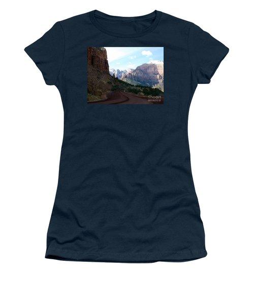 Road Through Zion National Park Women's T-Shirt